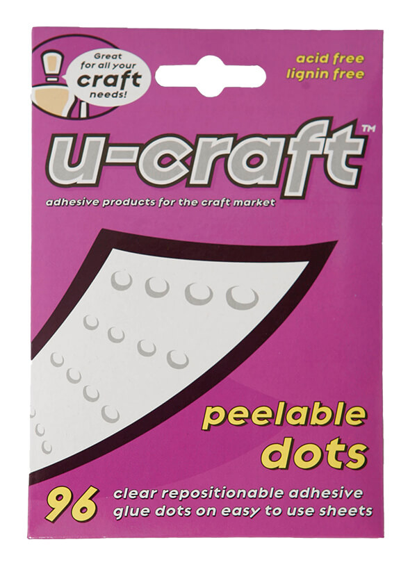 2 X U Craft Glue Adhesive Dots 96 Per Pack 10mm Peelable